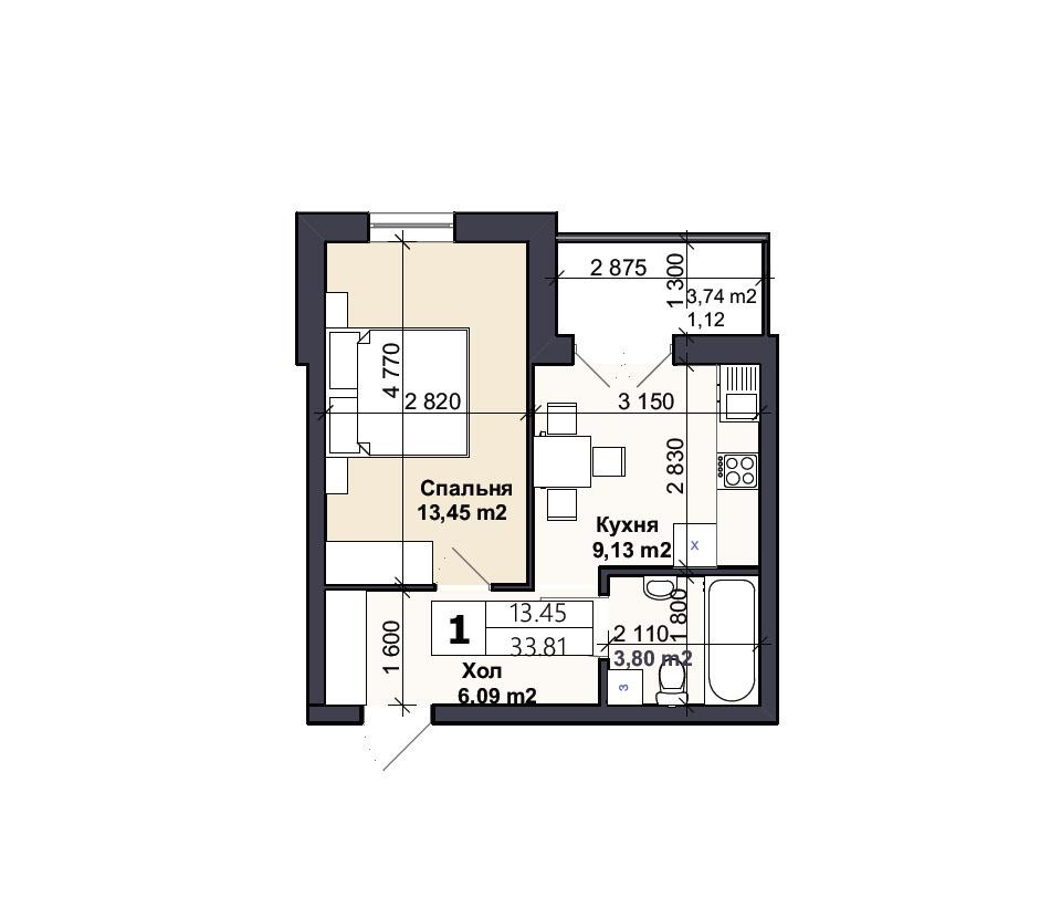 Квартира тип 1